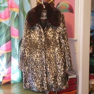 Vince Camuto Faux Fur Gorgeous Leopard Jacket